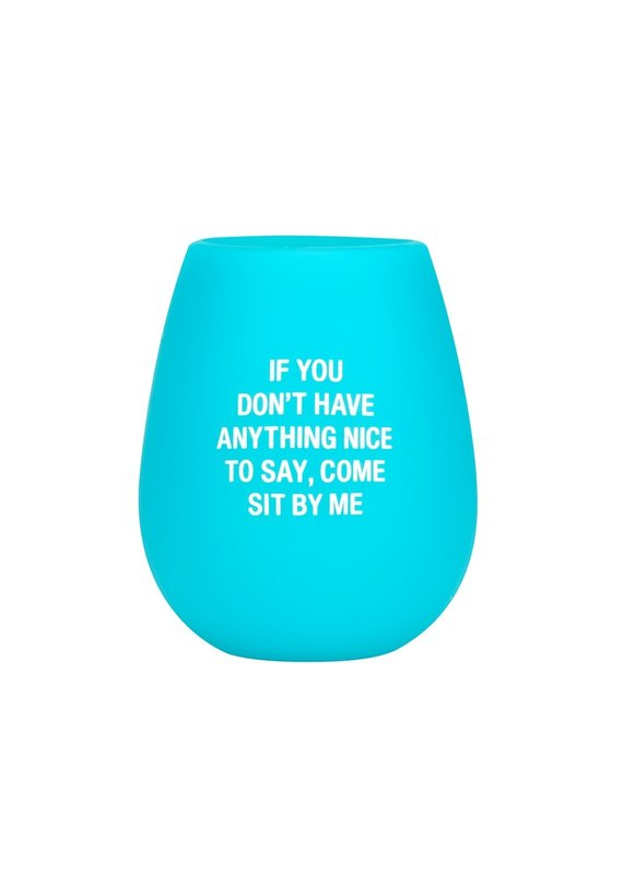 About Face Designs ****Sit by Me Silicone Wine Glass