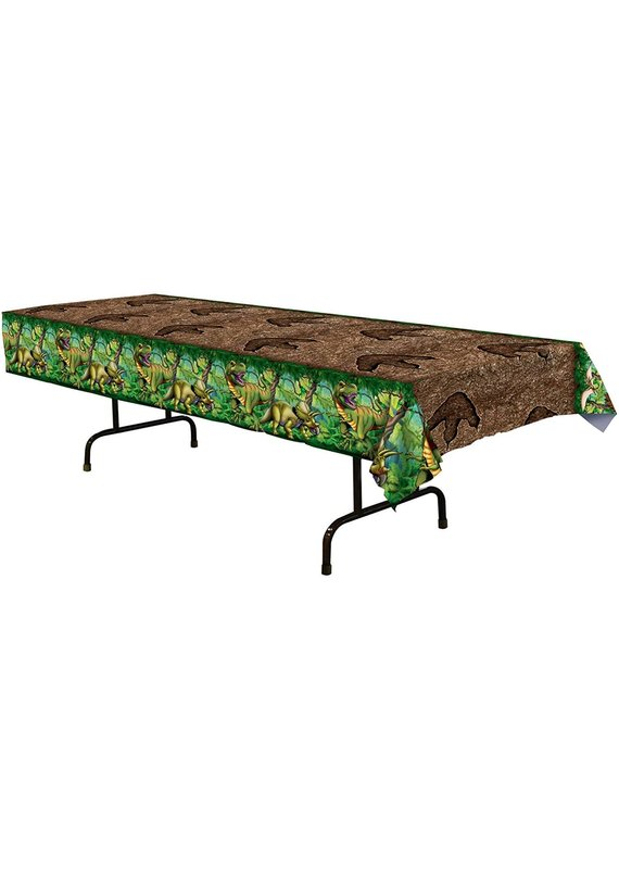 ****Dinosaur All Over Print Plastic Tablecover