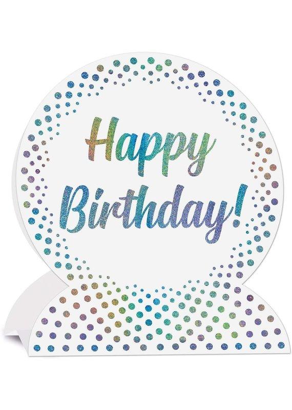 ****Prismatic Happy Birthday 3D Centerpiece