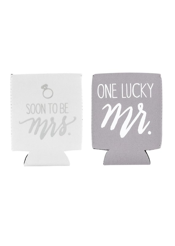 About Face Designs ****Mr. & Mrs. Drink Coozie