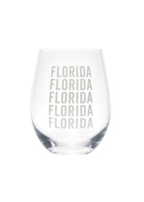 About Face Designs ****Florida Stemless Wine Glass