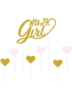****It's a Girl Cake Topper 7pc