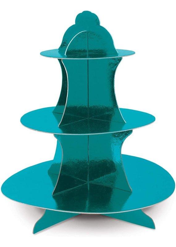 "****Turquoise Metallic Cupcake Stand 13.5"" Tall"