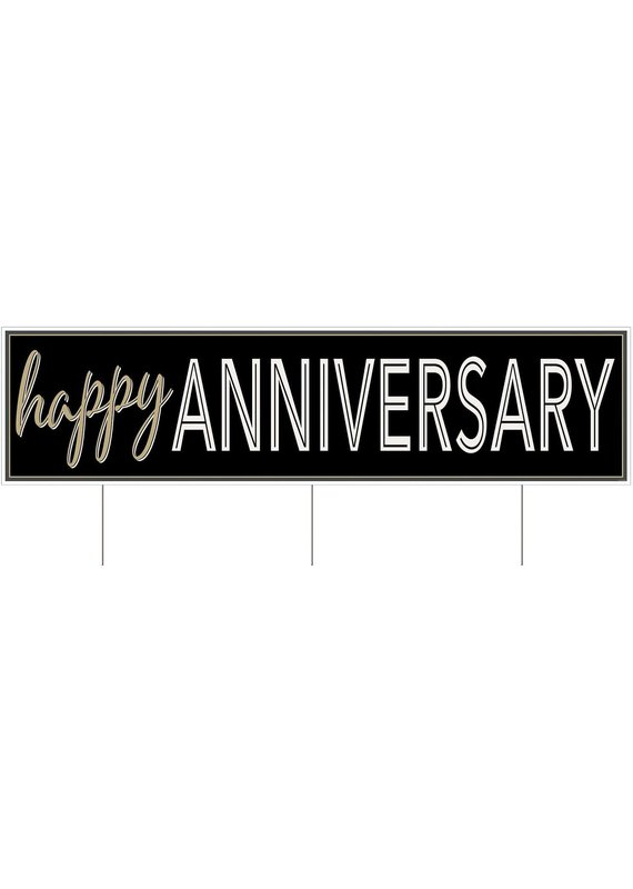 "****Happy Anniversary Jumbo Yard Sign 47"" wide"