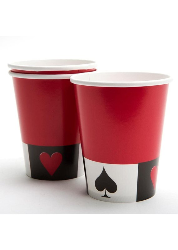 ****Casino Card Night 9oz Hot Cold Cups 8ct