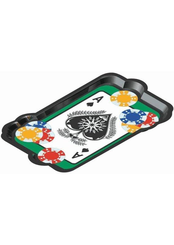 ****Casino Card Plastic Snak Platter