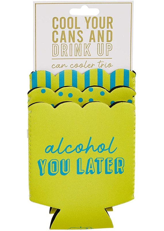 ****Alchohol You Later Lime Can Cooler Trio