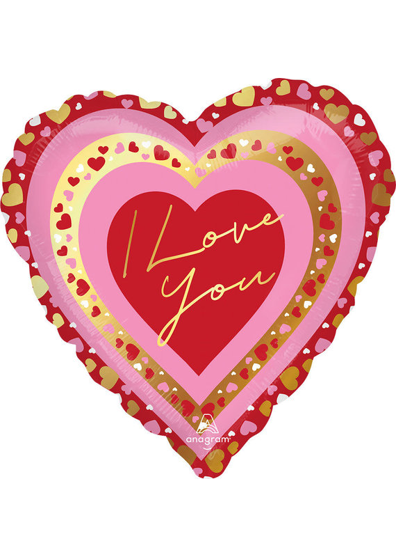 "****I Love You Pretty Hearts 18"" Mylar Balloon"