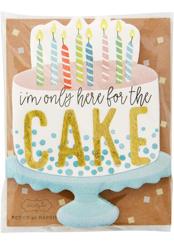 ****I'm Only Here for the Cake Birthday Napkins