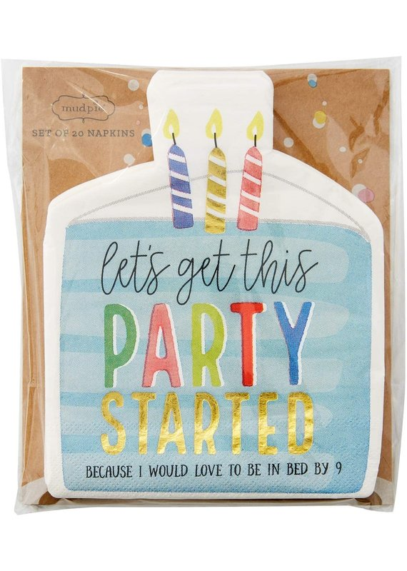 ****Let's Get This Party Started Birthday Napkins