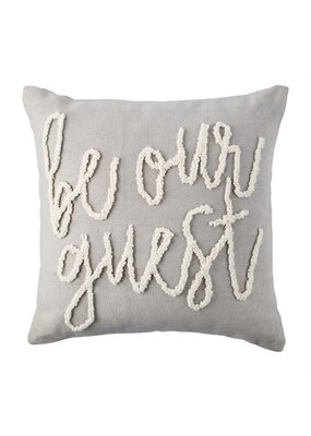 ****Be Our Guest Hook Wool Pillow