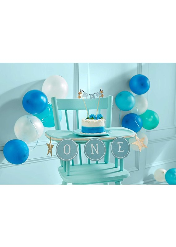 ****Blue 1st Birthday Cake Topper and Banner