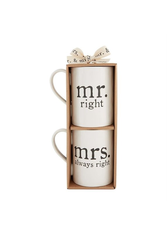 ****Mr & Mrs Right Mugs Set