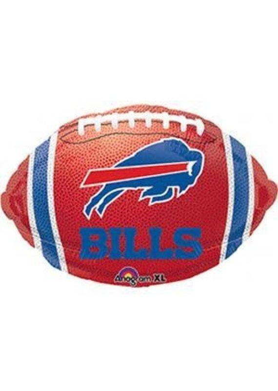 """****Buffalo Bills 17"""" Football Shape Mylar Balloon"""