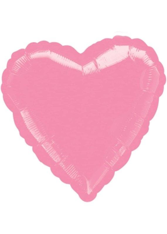 ****Metallic Pink Heart Mylar Balloon