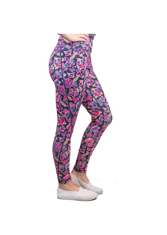 ****Simply Southern Sport Leggings Butterfly