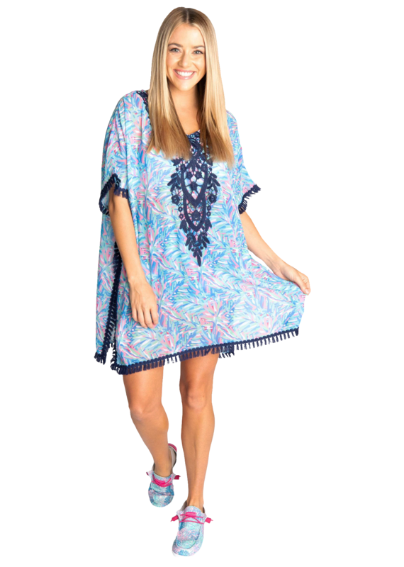 ****Simply Southern Coverup Tassel Abstract