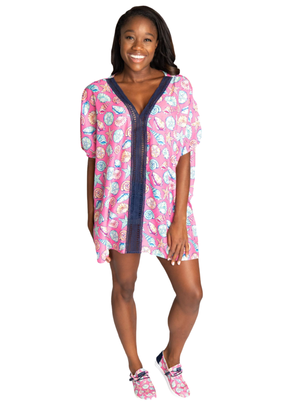 ****Simply Southern Coverup Tassel Shell