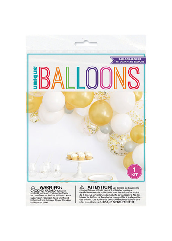 ****Assorted Gold and Confetti Filled Balloon Garland Arch Kit