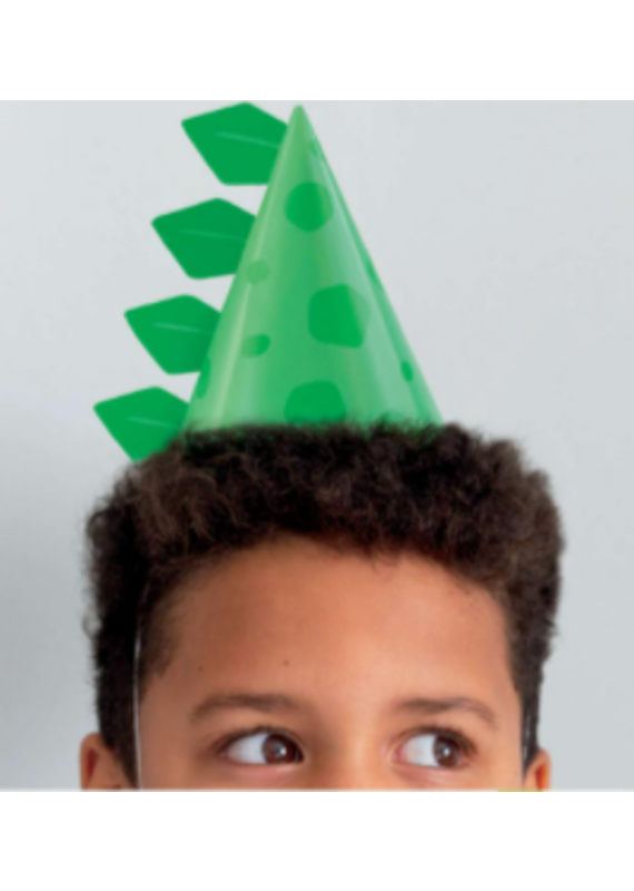 ****Blue & Green Dinosaur Cone Hats 8ct