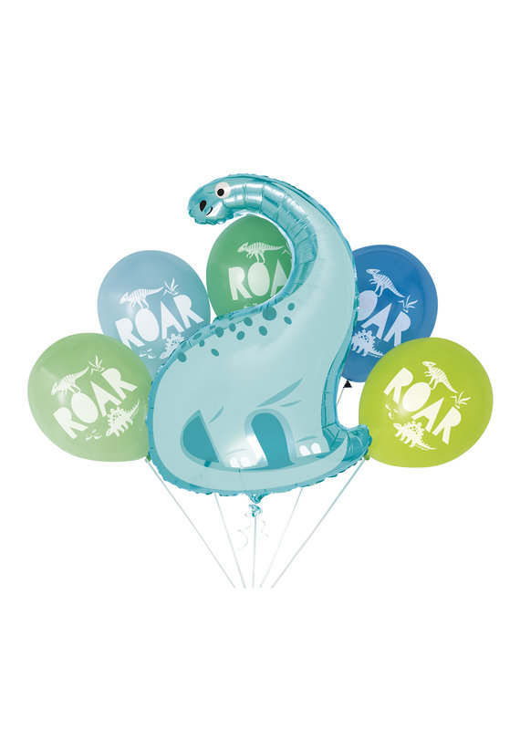 ****Blue & Green Dinosaur Balloon Bouquet