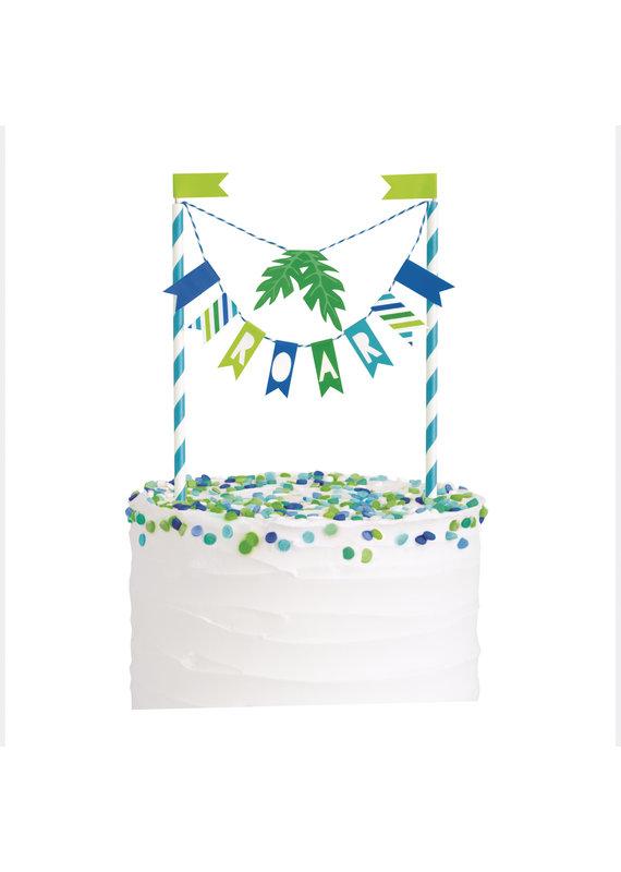****Blue & Green Dinosaur Bunting Cake Topper