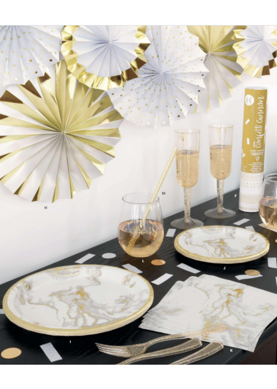 ****Gold Marble Lunch Napkins 20ct