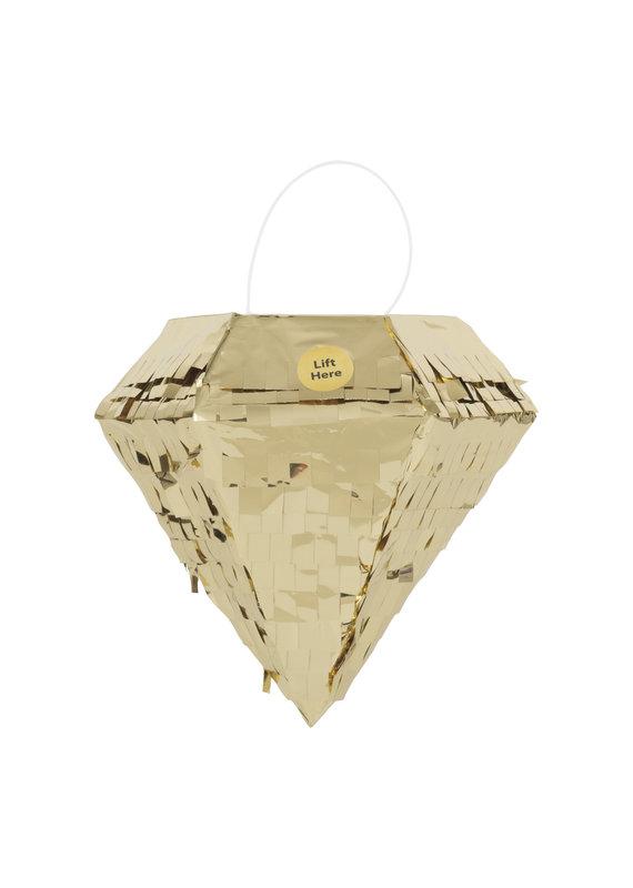 ****Diamond Gold Foil Mini Pinata Favor Decoration 1ct