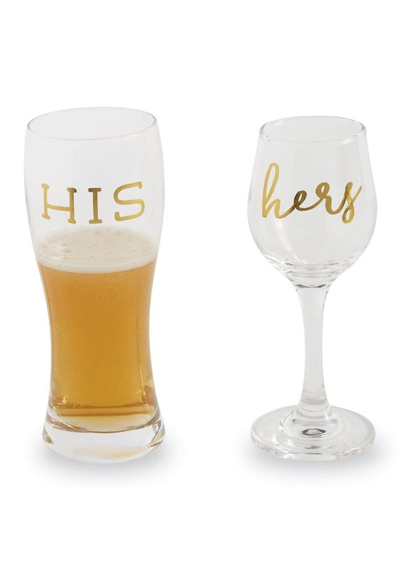 ****His and Hers Beverage Glasses