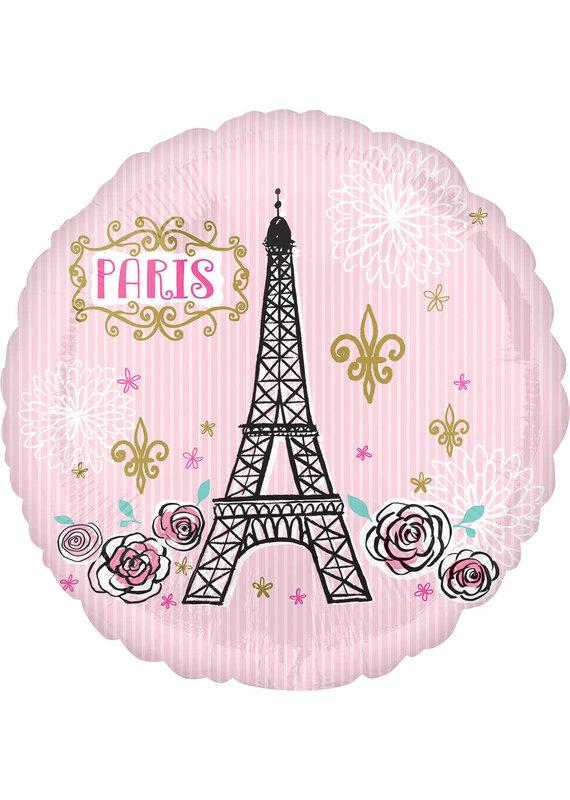 "****Oui Oui Paris 17"" Mylar Balloon"