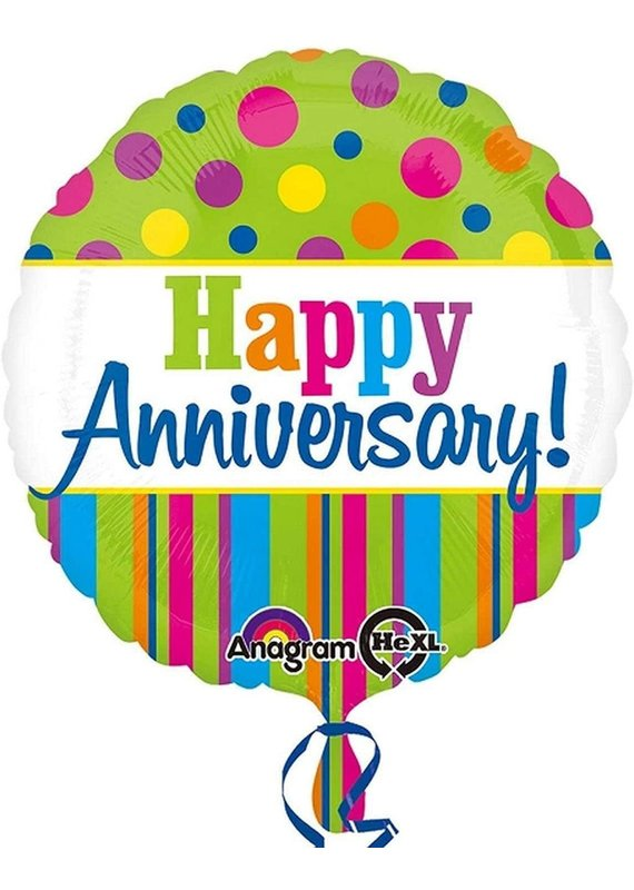 "****Happy Anniversary 18"" Mylar balloon"