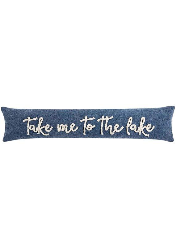 ****Take Me To The Lake Skinny Long Pillow