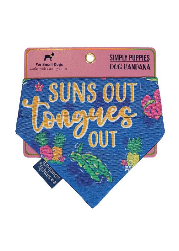 ****Simply Southern Dog Bandana Tongues Out