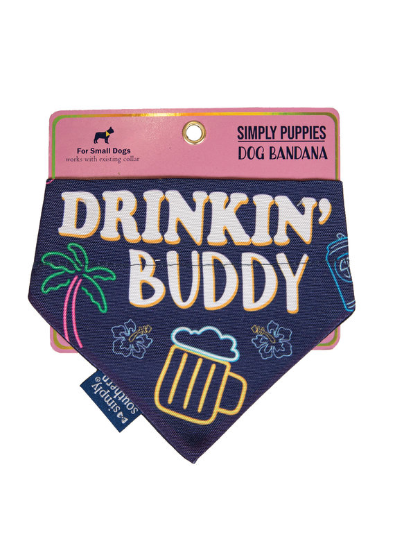 ****Simply Southern Dog Bandana Drinking Buddy