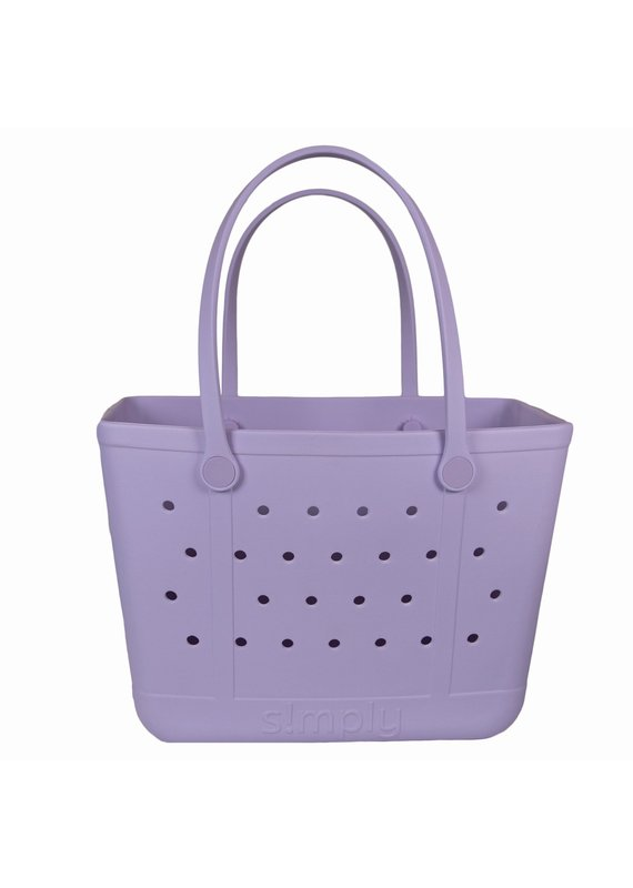 ***Simply Southern Large Waterproof Tote Bag in Orchid