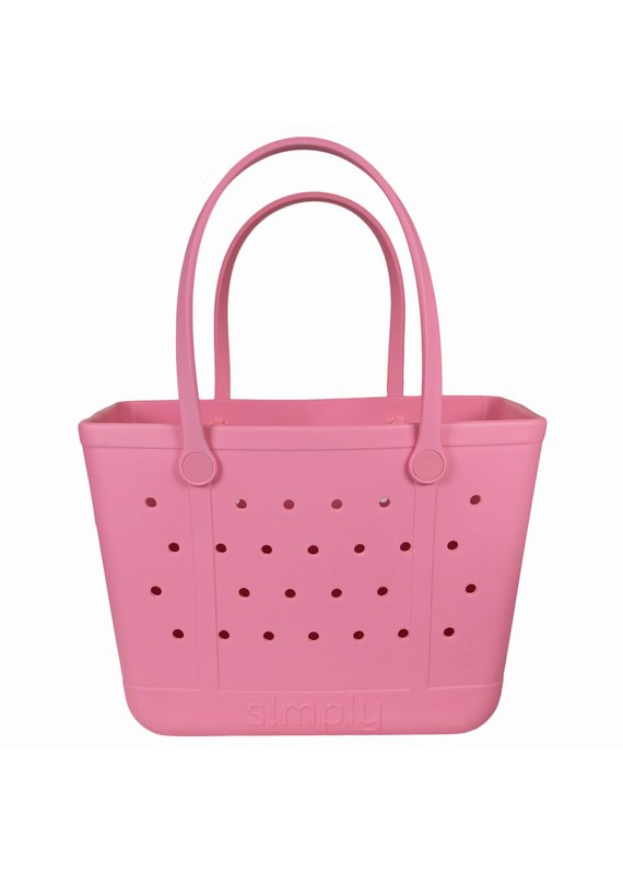 ****Simply Southern Large Waterproof Tote Bag in Flamingo