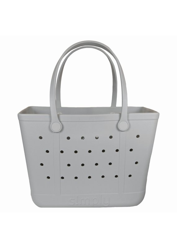 ****Simply Southern Large Waterproof Tote Bag in Ice Gray