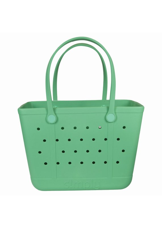 ****Simply Southern Large Waterproof Tote Bag in Mint