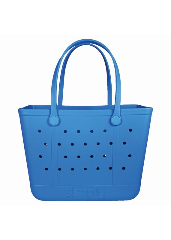 ****Simply Southern Large Waterproof Tote Bag in Sapphire