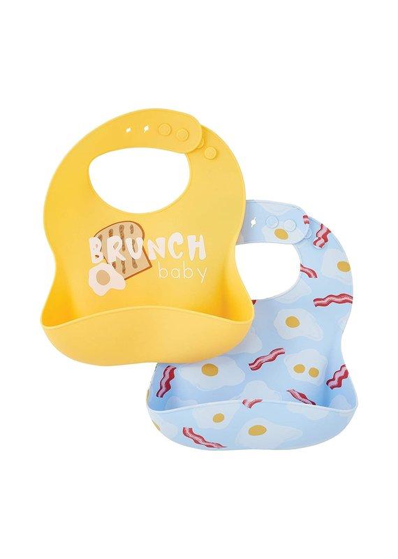 ****Brunch Baby Silicone Bibs