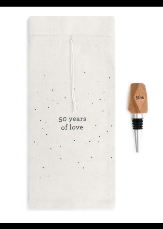 ****50 Years Wine Bottle Bag & Stopper