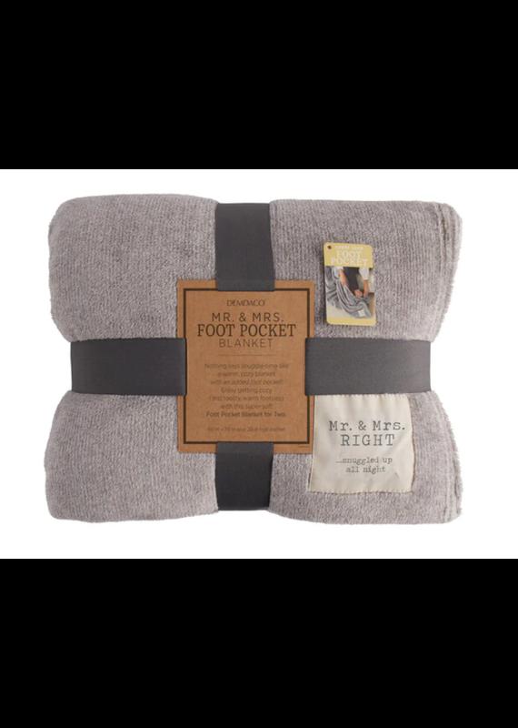 ****Mr & Mrs Right Foot Pocket Blanket