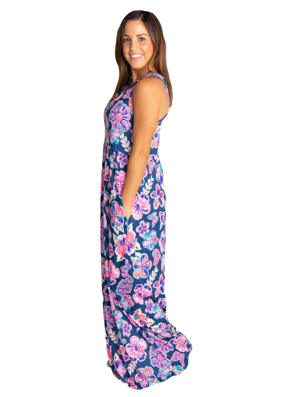 ****Simply Southern Maxi Dress Butterfly