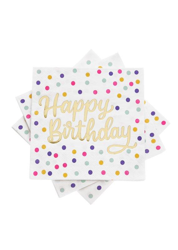 Cakewalk ****Happy Birthday Beverage Napkins