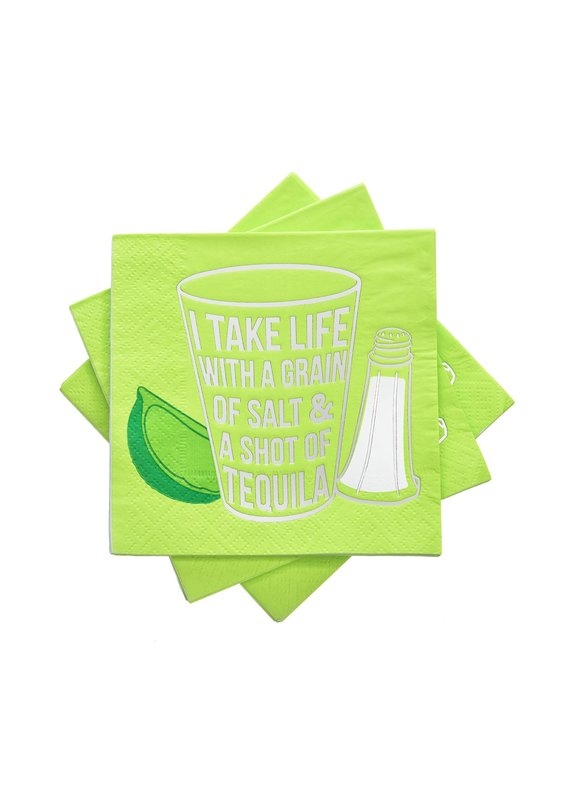 Cakewalk ****Life with a Grain of Salt & Shot of Tequila Beverage Napkins