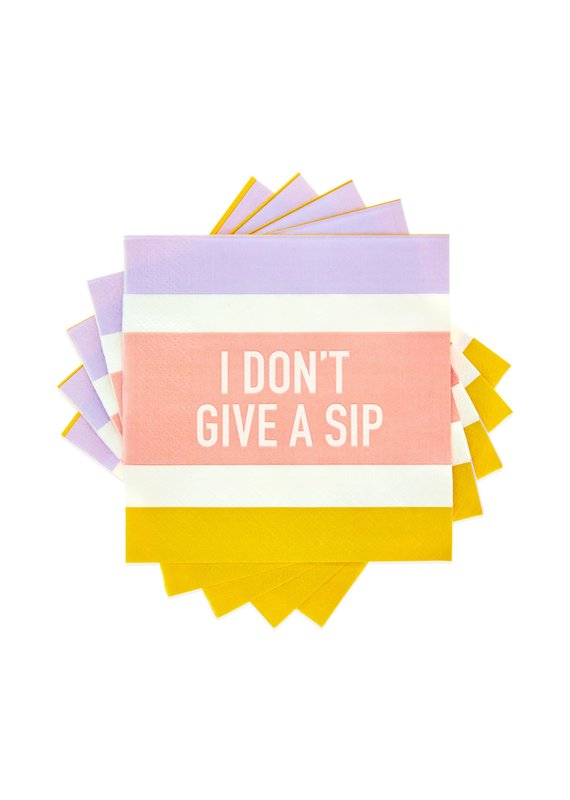 Cakewalk ****I Don't Give a Sip Beverage Napkins