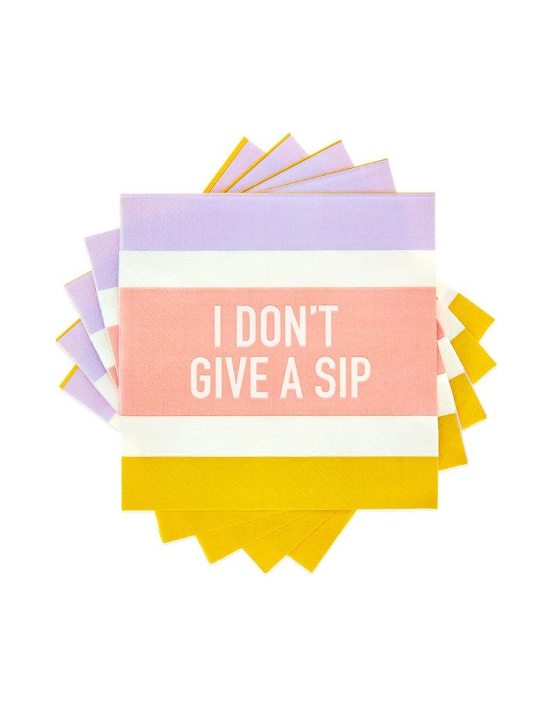 Cakewalk ****I Don't Give a Sip Beverage Napkins