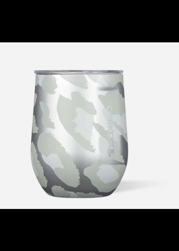 Corkcicle *****Corkcicle  Snow Leopard Stemless Wine Glass