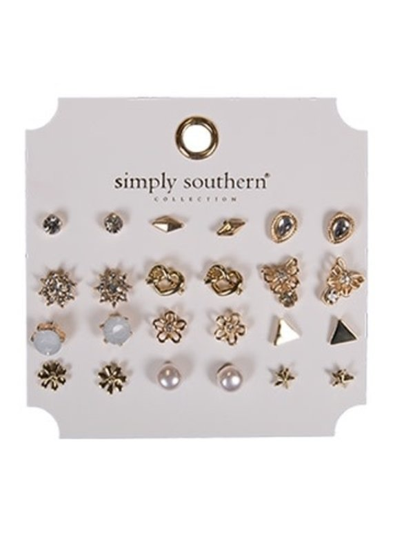 ****Simply Southern Stud Earring Set Flower