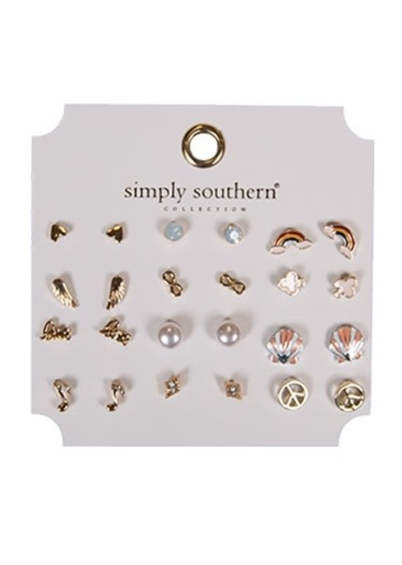 ****Simply Southern Stud Earring Set Peace